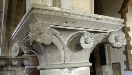 13th Century capital on a pillar in the south aisle